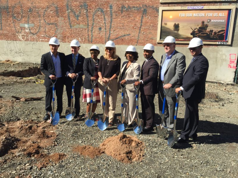 Executives with the KABR Group and local officials held a ceremonial groundbreaking for the firm's new 58-unit residential project in Jersey City's McGinley Square neighborhood.